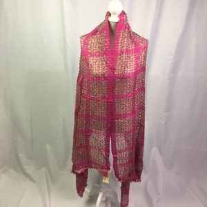 Collection 18 Plaid Confetti Scarf Gala Pink